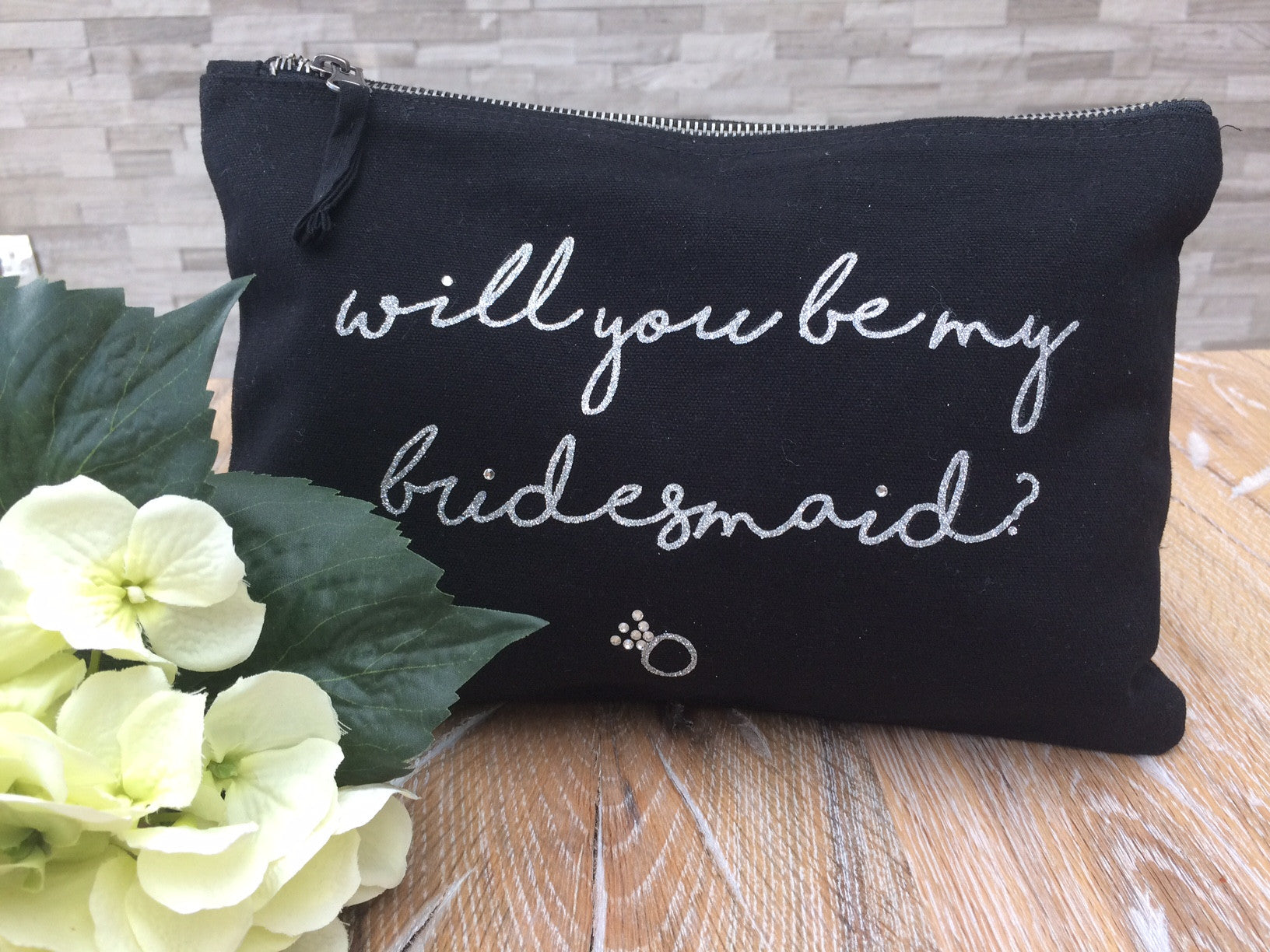 Will you be my bridesmaid personalised make up bag - Koko Kimono