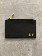 personalised black cardholder