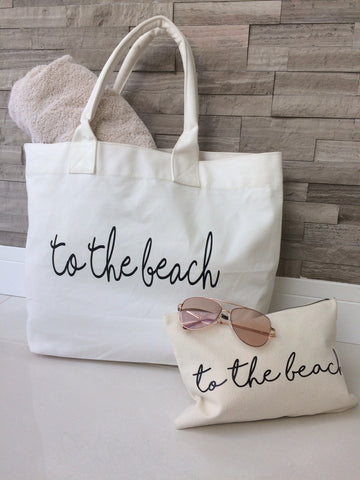 'To The Beach' Tote Beach Bag