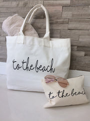 'To The Beach' Tote Beach Bag - Koko Kimono