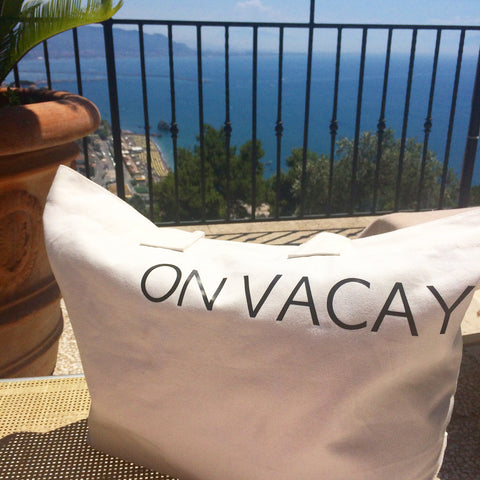 'On Vacay' Tote Beach Bag