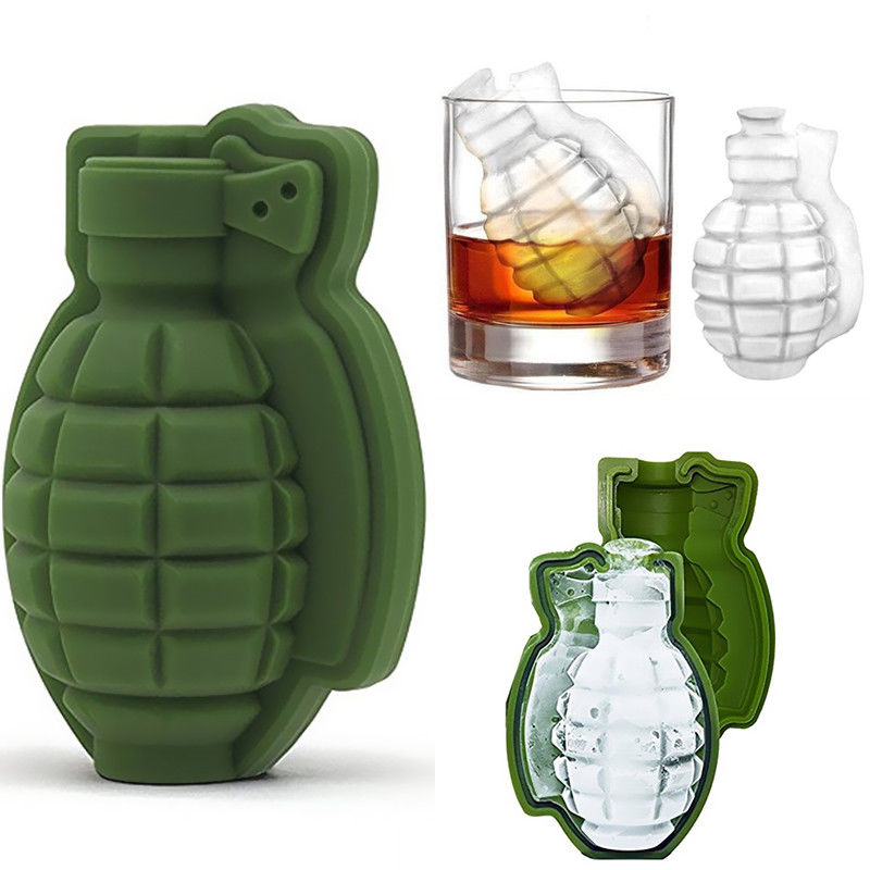 3D Ice Cube Grenade Shape Mold