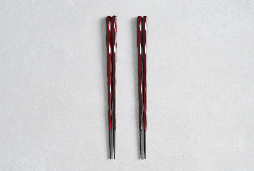 Fushimi Chopsticks Burgandy 24cm - Set of 2