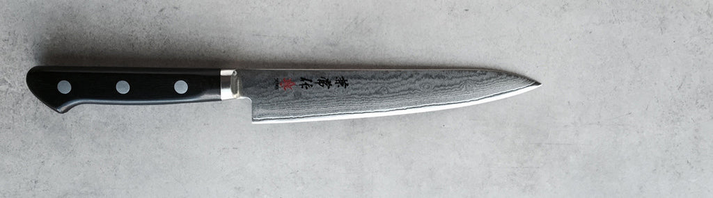 Kanetsune damascus 150mm utility knife