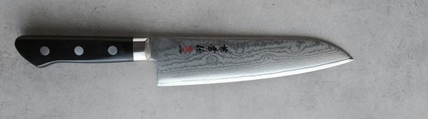 Kanetsune Damascus 180mm Santoku knife