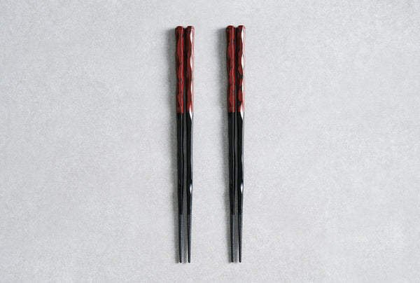 Kiku Chopsticks Vibrant Red 24cm - Set of 2