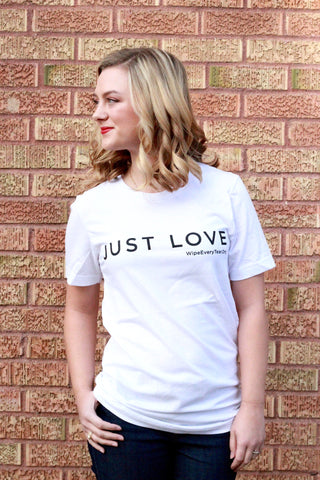 Just Love Tee- White