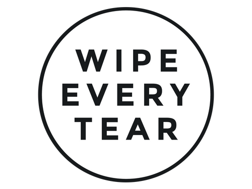 Wipe Every Tear Black Logo Sticker
