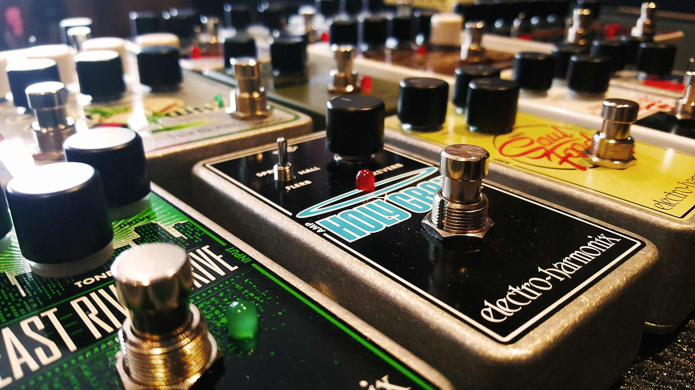 Electro Harmonix pedals at Music Junkie