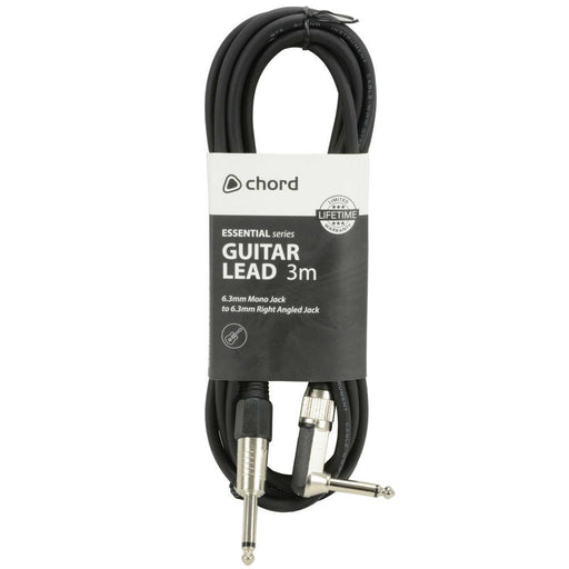 Chord Essential Right Angled Instrument Cable 10ft - Music Junkie