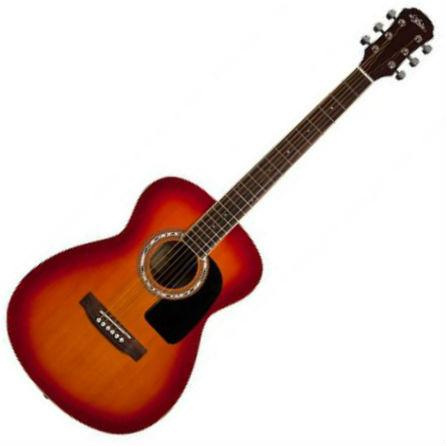 Aria AF-15 Acoustic Guitar Cherry Sunburst - Music Junkie