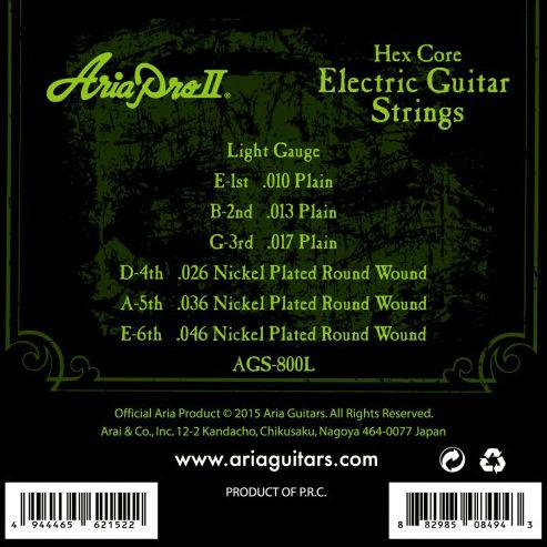 Aria AGS-800L Electric Guitar Strings 10-46 - Music Junkie