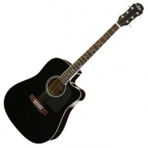 Aria AW-15CE Electro Acoustic Guitar Black - Music Junkie