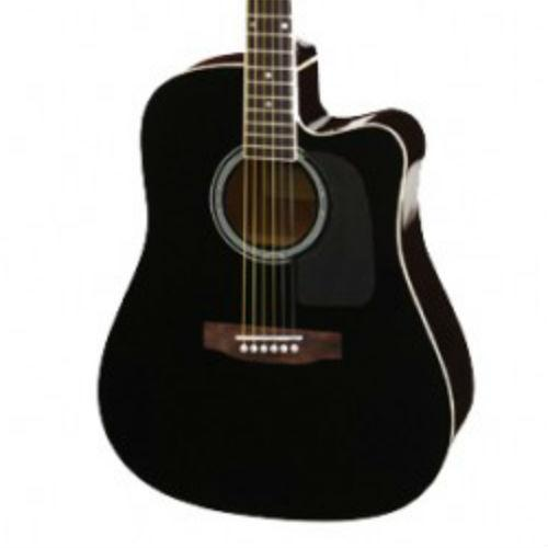 Aria AW-15CE Electro Acoustic Guitar Black
