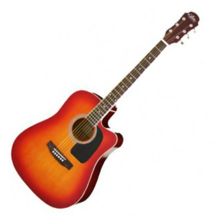 Aria AW-15CE Electro Acoustic Guitar Cherry Sunburst - Music Junkie