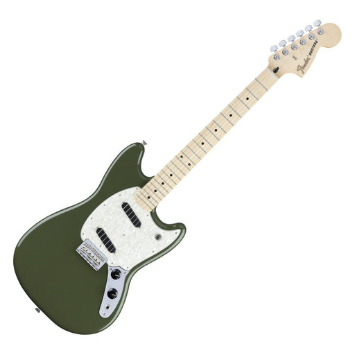 Front view of Fender Mustang Olive Maple Neck