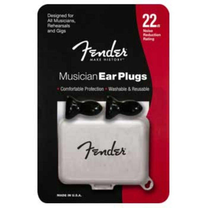Fender Musician Series Black Ear Plugs - Music Junkie