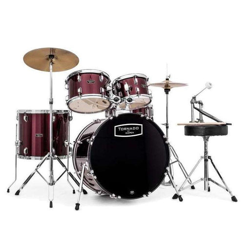 Mapex Tornado 2216 Rock Fusion Drum Kit Burgundy Red - Music Junkie