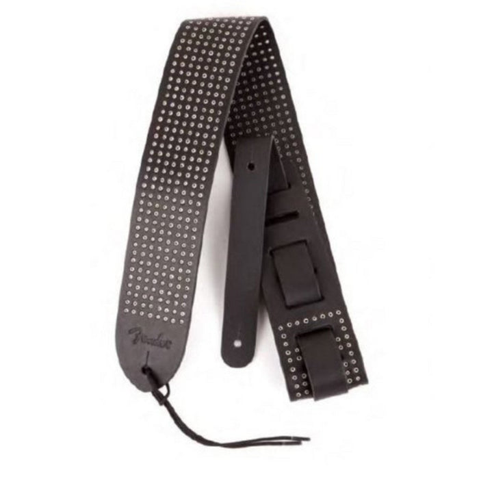 Fender Leather Small Rivets Strap Black - Music Junkie