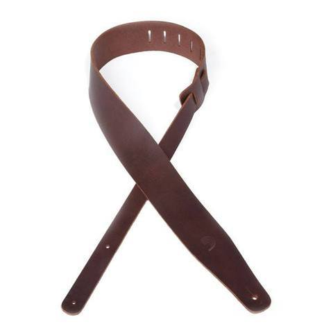 Planet Waves Thick Leather Guitar Strap Brown - Music Junkie