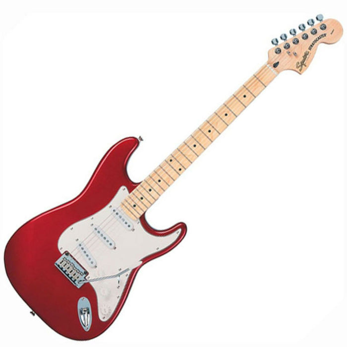 Squier Standard Stratocaster Electric Guitar Candy Apple Red MN - Music Junkie