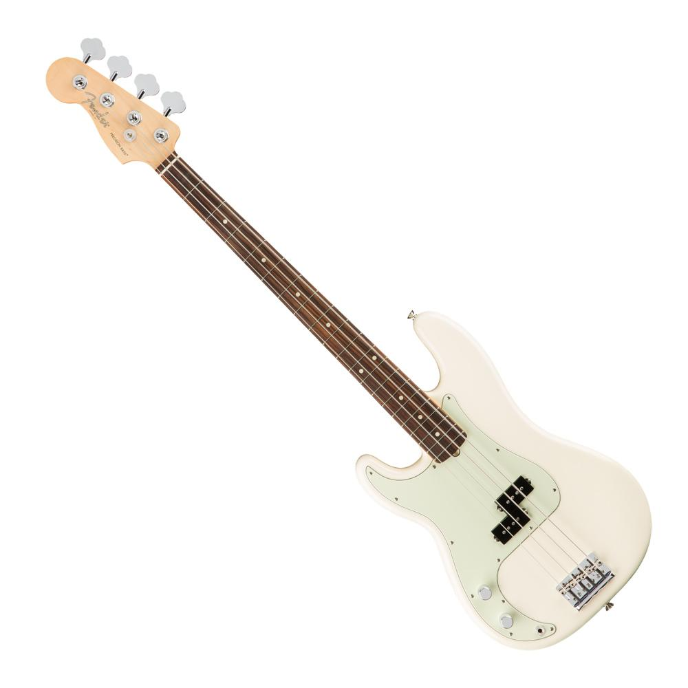 Fender American Pro LH P-Bass Olympic White RW - Music Junkie