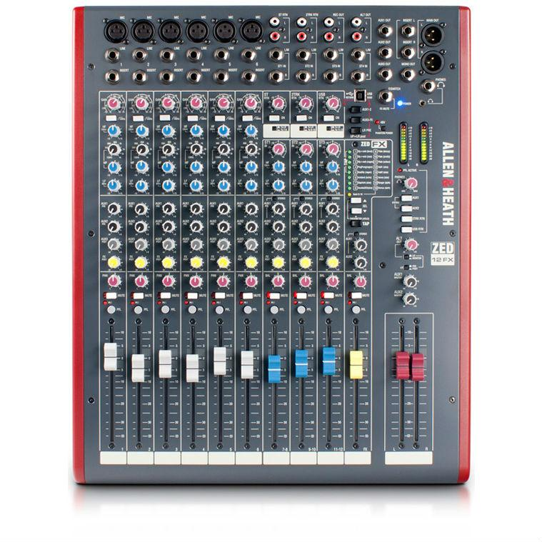 Allen & Heath ZED-12FX Analogue Mixer With Effects - Music Junkie