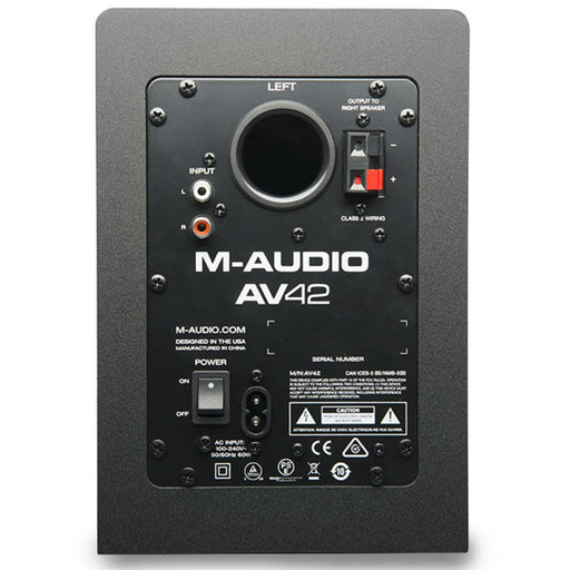 M-Audio AV42 Active Desktop Monitor Speakers - Music Junkie