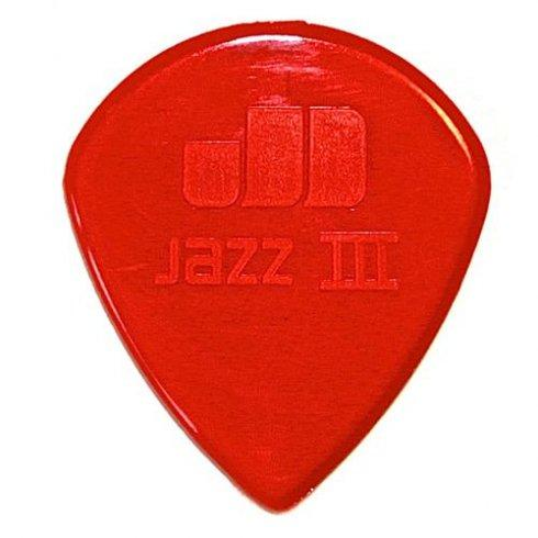 Dunlop Nylon Jazz III Red 1.38mm Player Pack (6 Picks) - Music Junkie