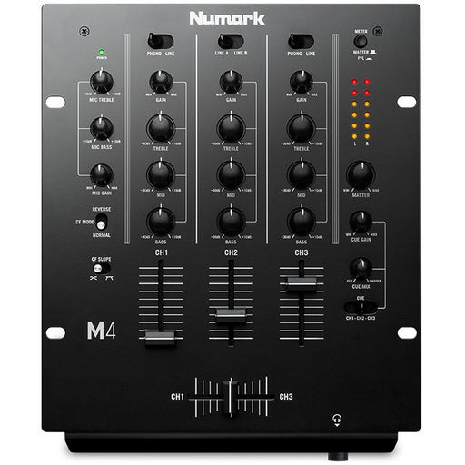 Numark M4 Three Channel Mixer with 3-Band EQ - Music Junkie
