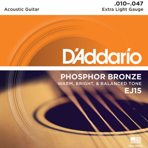 Daddario EJ15 Acoustic Guitar Strings 10-47 - Music Junkie