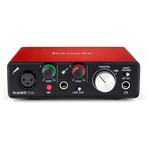 Focusrite Scarlett Solo 2nd Gen USB Audio Interface - Music Junkie