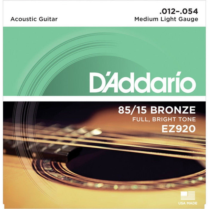 D'addario EZ920 American Bronze Acoustic Strings 12-54 - Music Junkie