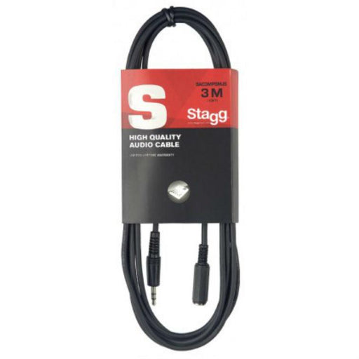Stagg Deluxe Audio Cable Mini Stereo Jack extension 10ft - Music Junkie