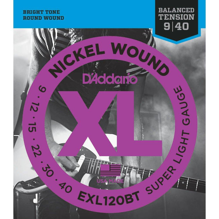 D'addario EXL120BT Balanced Tension Electric Strings 9-40 - Music Junkie