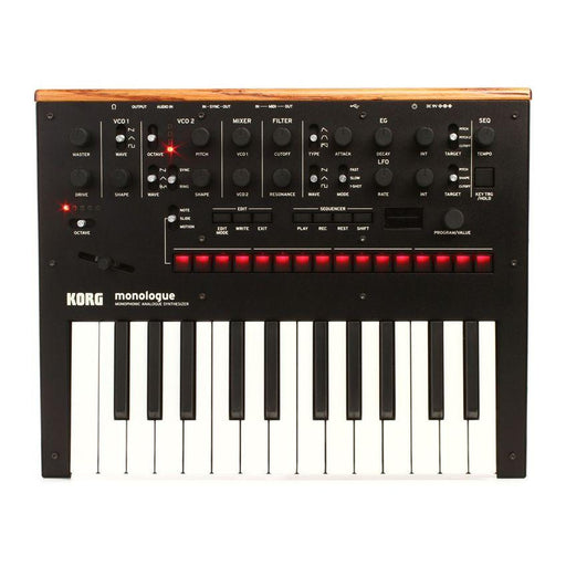 Korg Monologue Synth Black - Music Junkie