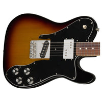 Close up of Fender 72 Telecaster Custom Sunburst PF