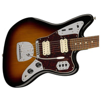 Close up of Fender Classic Player Jaguar Special HH 3-Tone Sunburst PF