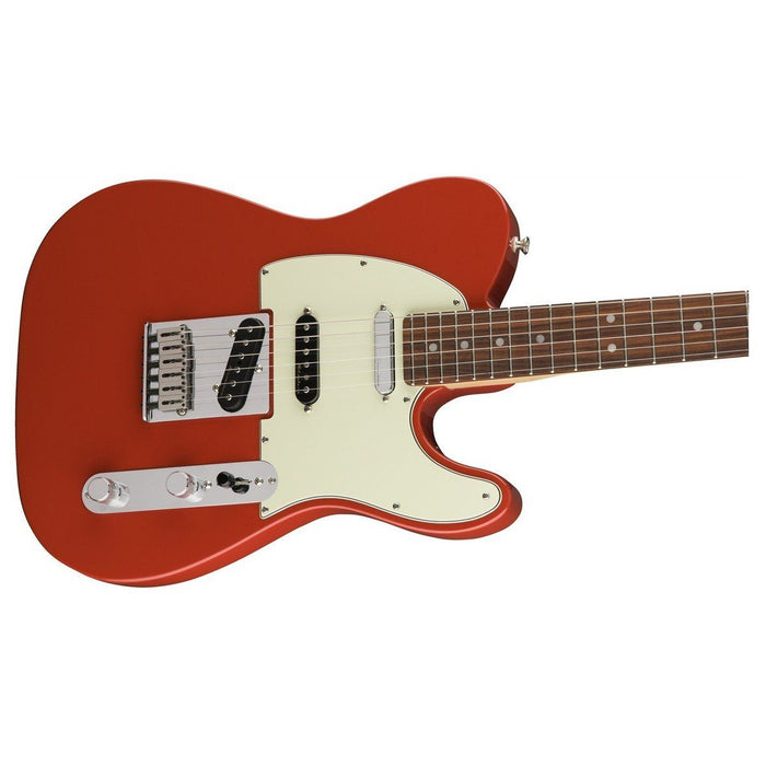 Close up of Fender Deluxe Nashville Tele Fiesta Red PF