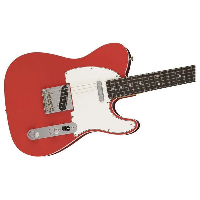 Close up of Fender American Original 60's Tele Fiesta Red RW