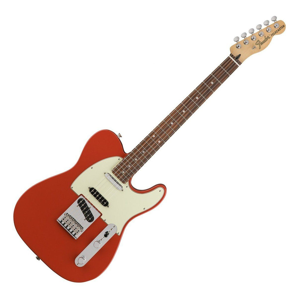Front view of Fender Deluxe Nashville Tele Fiesta Red PF