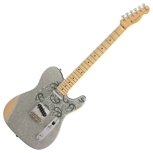 Image of Fender Brad Paisley Road Worn Telecaster Silver Sparkle MN