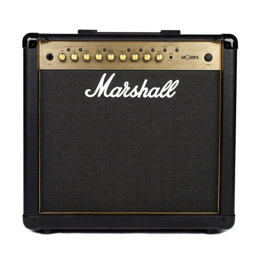 Front view of Marshall MG50GFX Guitar Amp Gold Edition