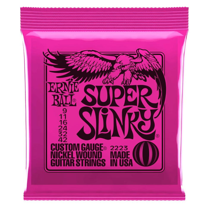 Ernie Ball Super Slinky Electric Guitar Strings 9-42 - Music Junkie
