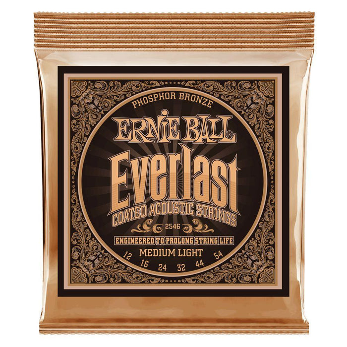 Ernie Ball Everlast Phosphor Bronze Acoustic Strings 12-54 - Music Junkie