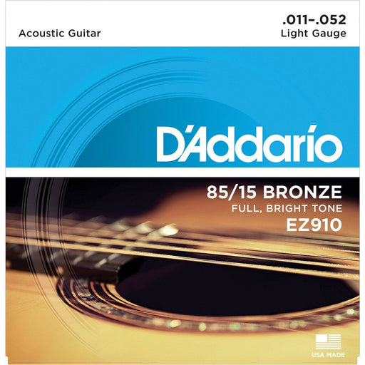 D'addario EZ910 American Bronze Acoustic Strings 11-52 - Music Junkie