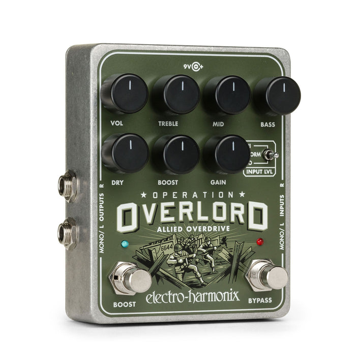 Electro Harmonix Operation Overlord Stereo Overdrive Pedal - Music Junkie