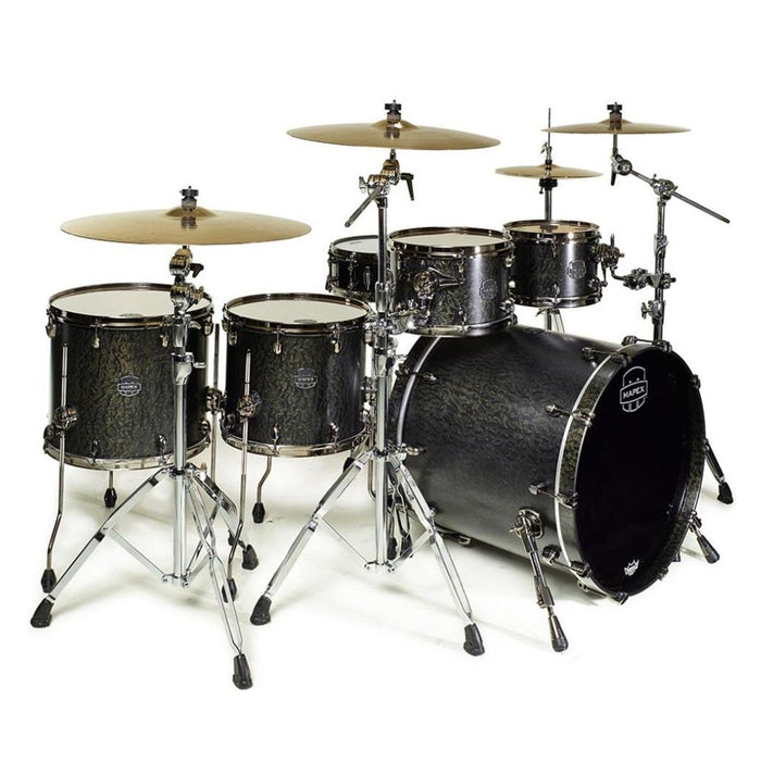 Mapex SV628XUB Saturn V Soundwave Twin Shell Pack Flat Black - Music Junkie