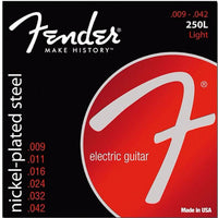 Fender 250L Super Nickel Plated Ball End Strings 9-42 - Music Junkie
