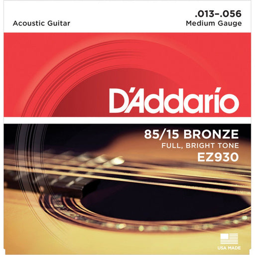 D'addario EZ930 American Bronze Acoustic Strings 13-56 - Music Junkie